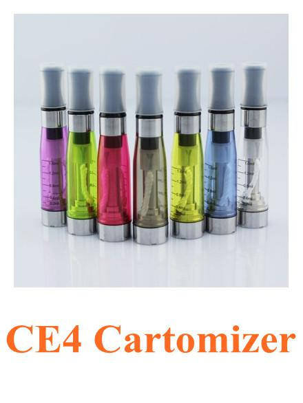 CE4 1.6ml 2.4ohm atomizer cartomizer clearomizer vaporizer 510 ego-CE4 ego t,ego w, ego c, e-cigarette for all ego series CE5 CE6 CE7 DCT T2