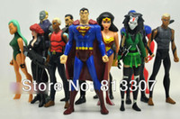 Wholesale Dc Micron - 12 pcs Dc comics DC Universe YOUNG JUSTICE SuperMan Robin Wonder woman Micron AQUALAD Free Shipping