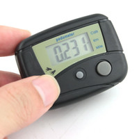 Wholesale Pc Black Counter - free shipping 150 pcs new LCD Pedometer Step Calorie Counter Walking Distance New