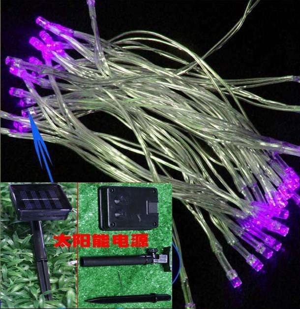 Zonne-energie LED-verlichting Kerstverlichting Vakantielicht Fee 40 Heads Lampen 5 meter