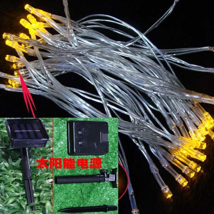 solaire alimenté LED allume lumières de Noël vacances lumière fée 40 têtes lampes 5 mètres