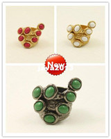 Wholesale Arty Rings - New! 3 colors available super fantastic arty cluster ring US7# 1.7cm (Wholesale from 3pcs!!!) R049