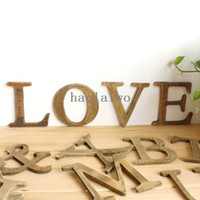 Wholesale Wooden Plaques Wholesale - Min order 4pcs, ZAKKA Personalised Wooden Name Plaques Word Letters Wall Door Art Sign Wedding Party IP010 13CM Free Shipping