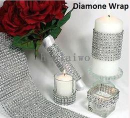 Wholesale Rhinestone Crystal Cake Banding Wholesale - HOT!! !10YD DIAMOND MESH RHINESTONE WRAP RIBBON CRYSTAL TRIMMING CAKE BANDING