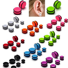 Wholesale Taper Plug Earrings - Earring Jewelry New Wholesale Body Jewelry 60X Mix EAR EXPANDER STRETCHER TAPER KIT PLUG 10-20MM [BC78(12)*5]