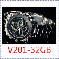 Wholesale Video Postings - HK POST FreeShipping V201,1080P spy Watch Camera Mini video Waterproof Night Vision,32GB LED IR SPORTS DV,32GB spy watch video night vision