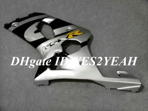 Verkleiningscarrosserie voor 2000 2001 2002 Suzuki GSXR1000 GSX R1000 K2 00 01 02 GSXR 1000 R1000 Silver Black Fairing Body Kit + Gifts SM66