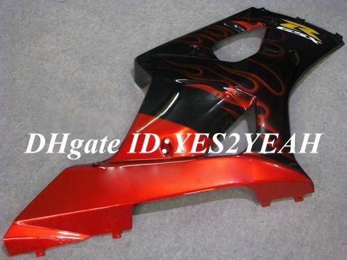 7 cadeaux !! Carénages moto pour 2003 2004 SUZUKI GSXR1000 GSX R1000 K3 03 04 GSXR 1000 R1000 Flammes noires brillant Carénage lk70