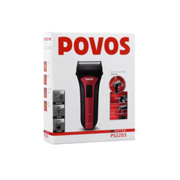 Wholesale Electric Shaver Povos - POVOS Fashion Design Mens Electric Shavers Independent Floating Single-head 8 Hour Quick Charge Shavers 1PR Lot Free Shipping PS2203