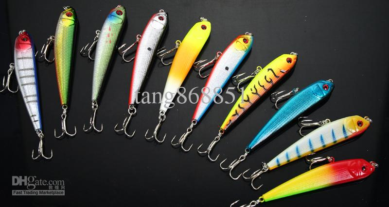 Assorted fishing lures top water hooks 8.6g/8.5cm