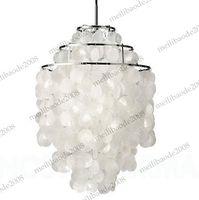 Wholesale Verner Panton - Dia 40cm Pendant Lamp Droplights Lighting Product Verpan Fun Verner Panton 3 Circle DIY Shell Pendant Sea Shells Lights Chandelier MYY5097