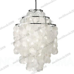 Wholesale Circle Chandelier Light - Dia 40cm Pendant Lamp Droplights Lighting Product Verpan Fun Verner Panton 3 Circle DIY Shell Pendant Sea Shells Lights Chandelier MYY5097