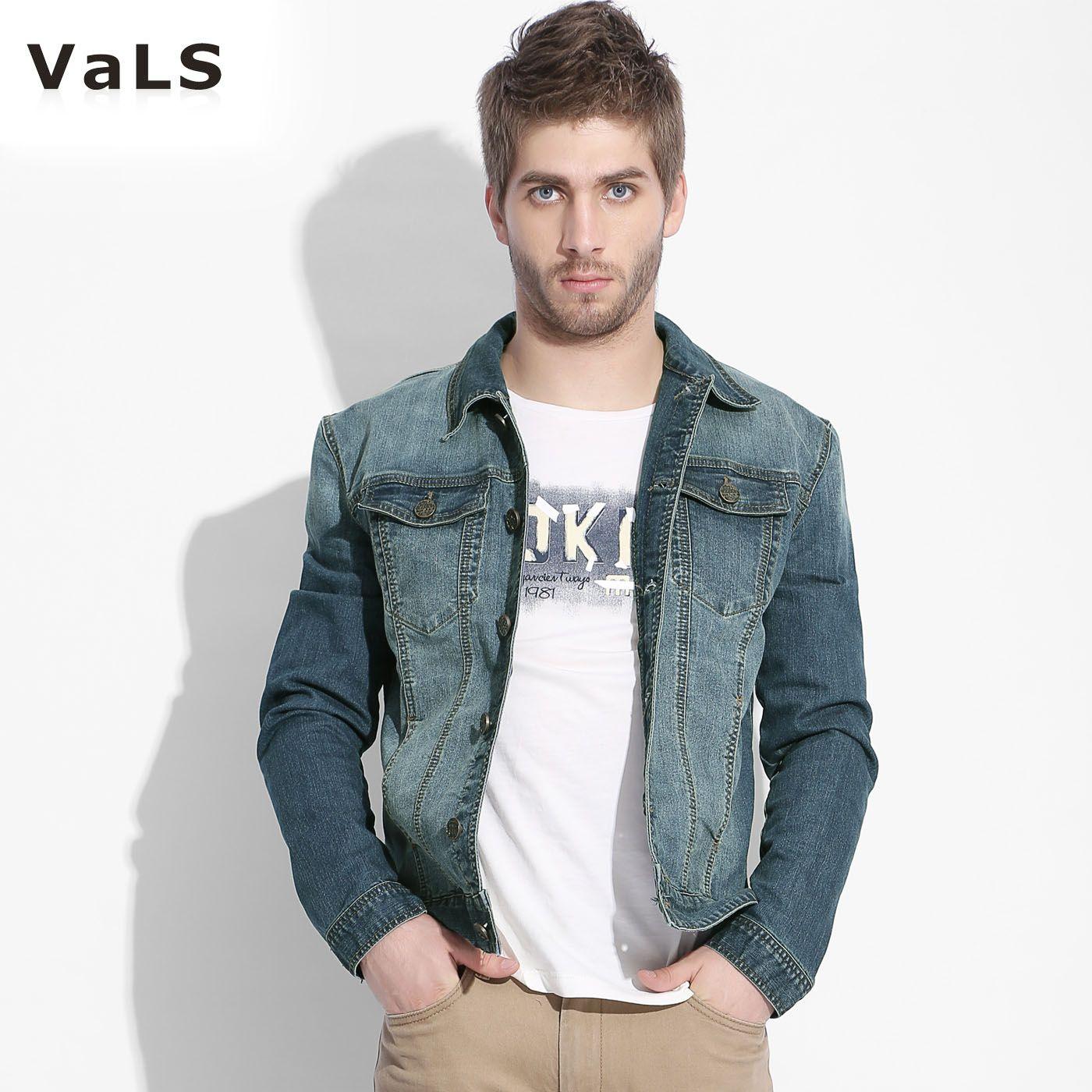 2013 Autumn New Vals Men's Denim Jacket Fashion And High Quality ...