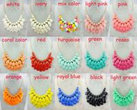 Wholesale Wholesale Acrylic Teardrop Necklaces - New Design Mini Teardrop Statement Necklace Beads Statement Choker Necklace