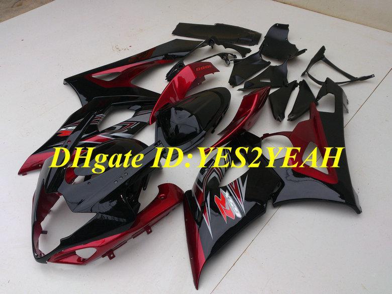 Verbarsting Set voor 2005 2006 Suzuki GSXR1000 GSX R1000 K5 05 06 Carrosserie GSXR 1000 R1000 Red Black Fairing Kit + Geschenken MG72
