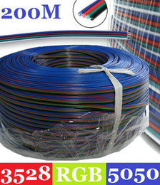 Wholesale Smd Meter - 200 Meter Cable Wire Extension Cord for 3528 5050 SMD LED RGB Fairy Light Strip Stripe