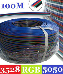Wholesale Rgb Extension Connector Cable - 100M RGB 4-Pin Extension Connector Cable Cord For 3528 5050 RGB LED Strip Indoor