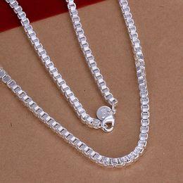 Wholesale Beautiful Necklace Boxes - kingslate pretty cute cheap strange 925 sterling SILVER fashion 4MM box CHAIN Necklace Beautiful jewelry N016