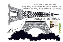 Wholesale Growth Tower - 1PCS Eiffel Tower DIY WALL DECALS Stickers Deco Home Decor 50x70cm #23181