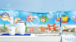 Wholesale Nursery Wall Stickers Fish - 1PCS Fish Jar Underwater animal Wallpaper DIY WALL DECALS Stickers Home Deco #23188