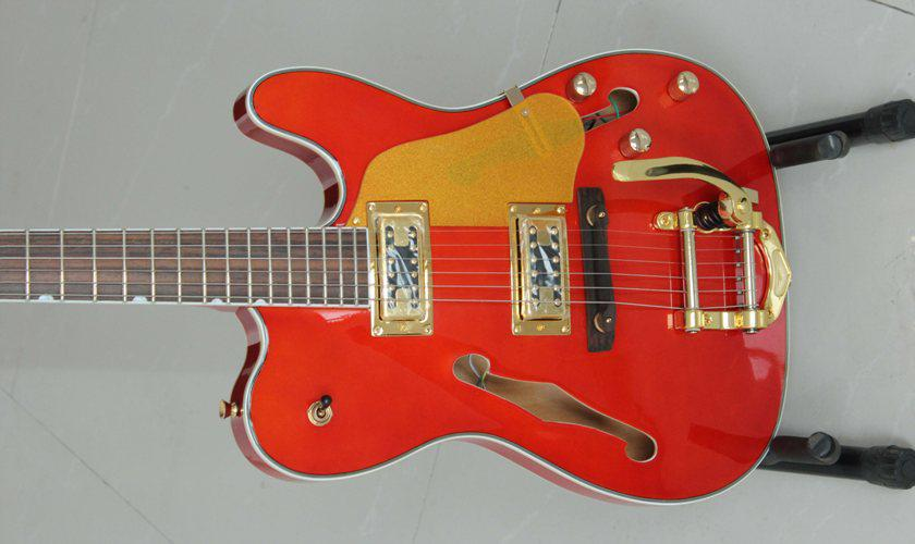 new brand jazz electric guitar in red color and vibratone tremolo cheap electric guitars with. Black Bedroom Furniture Sets. Home Design Ideas