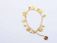 Wholesale Belly Dancing Anklets - Bellyqueen belly dance anklet belly dance gold coin accessories paillette dance belly dance anklets#C1010