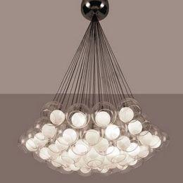 Wholesale Household Glasses - HOT!!! 19*10W Modern Household Dinning Room Pendant Lamp   Glass Pendant Lighting Chandelier Lights MYY5104