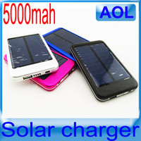 Wholesale Cell Phone Battery S3 - 5000Mah Solar Battery Charger Portable Power Bank USB Energy Panel for iPhone 4 4S 5 Samsung S3 S4 Note 2 N7100 Mobile Phones Mp3 Mp4 playe