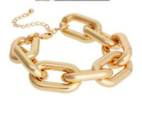 Wholesale ccb chain - New Fashion Unisex European Style Gold Silver Plated Alloy CCB Link Chains Bracelet 12pcs lot HOT SALE