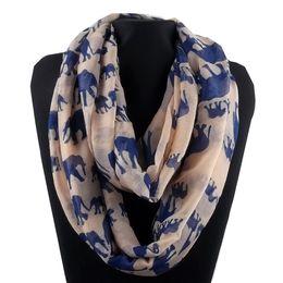 white cotton infinity scarf 2019 - CUTE ELEPHANT PRINT INFINITY SCARF VINTAGE VIBE KITSCHINDIE RETRO Infinity Scarves