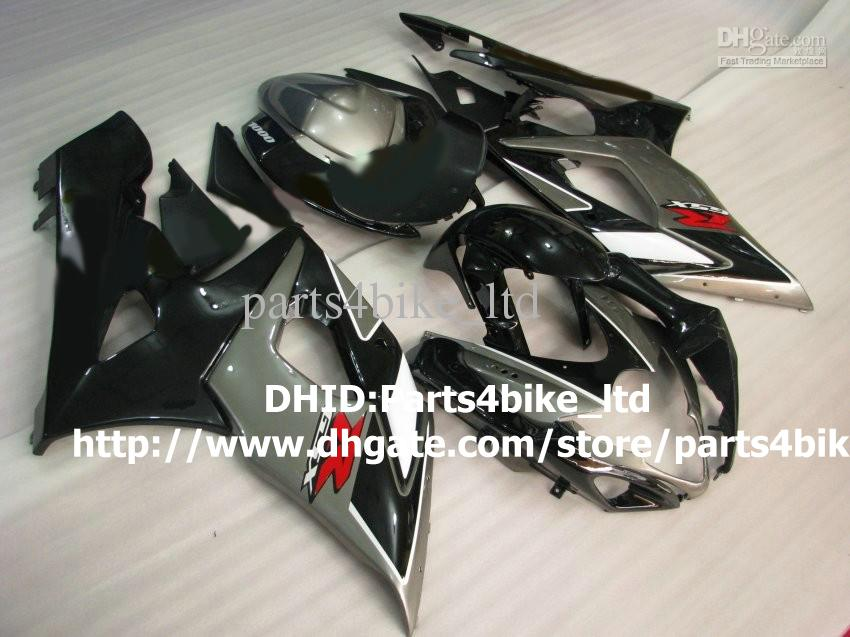HOT SALE! black/gray motorcycle fairing kit for SUZUKI GSX-R1000 05 06 ABS 2005 2006 GSXR 1000 K5 plastic fairings set with 7 gifts a87