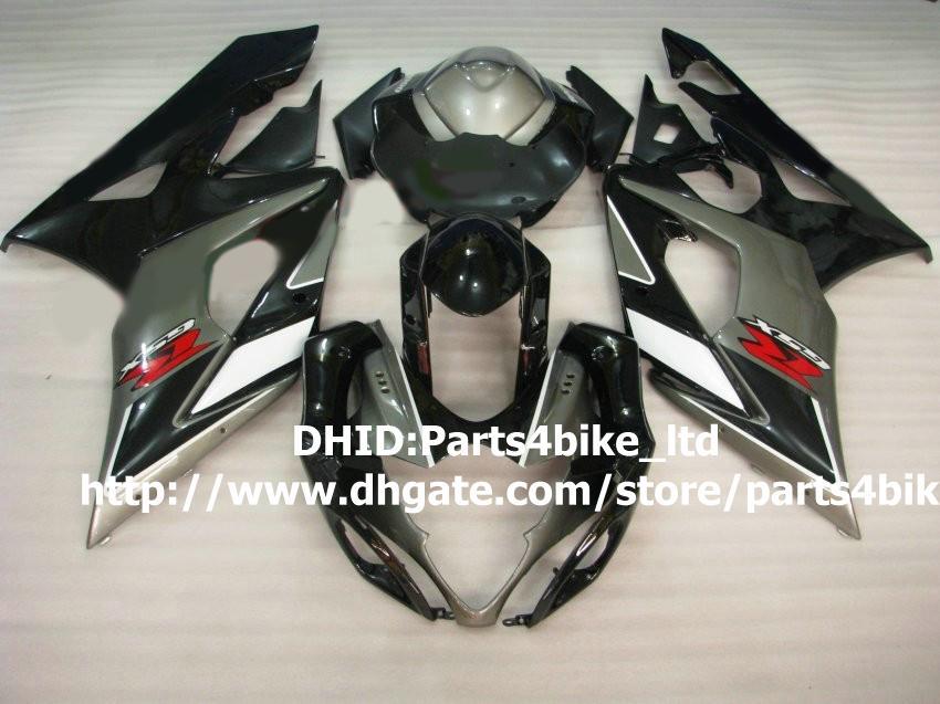 Hot koop! Black / Grey Motorcycle Fairing Kit voor Suzuki GSX-R1000 05 06 ABS 2005 2006 GSXR 1000 K5 Plastic Backings Set met 7 Geschenken A87