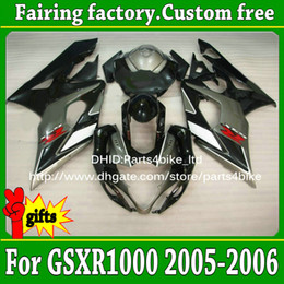 Kit Motorcycles For Sale Australia - HOT SALE! black gray motorcycle fairing kit for SUZUKI GSX-R1000 05 06 ABS 2005 2006 GSXR 1000 K5 plastic fairings set with 7 gifts a87