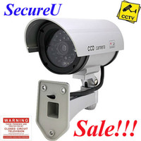 Wholesale Decoy Security Cameras - Free shipping cheapest emulational IR fake decoy dummy security surveillance CCTV outdoor bullet waterproof video camera system