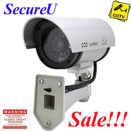 Wholesale Cheapest Bullet Cameras - Free shipping cheapest emulational IR fake decoy dummy security surveillance CCTV outdoor bullet waterproof video camera system
