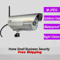 Wholesale Ip Wireless Waterproof - Free shipping outdoor use 0.3MP infrared Wireless IP WIFI CCTV security surveillance video waterproof bullet camera system installation home