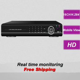 Wholesale Dvr Camera Alarm System - Free shipping cheapest best top brand 16CH channel HD D1 network DVR digital video recorder CCTV security surveillance camera system alarm