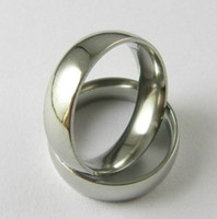 30pcs Quality Comfort Fit 6mm Fashion Anillos de acero inoxidable Wholesale Jewerly Lots