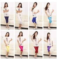 Wholesale Maternity Short Leggings - Modal Cotton Cropped Leggings Maternity Pants Pregnant women trousers 14 colors