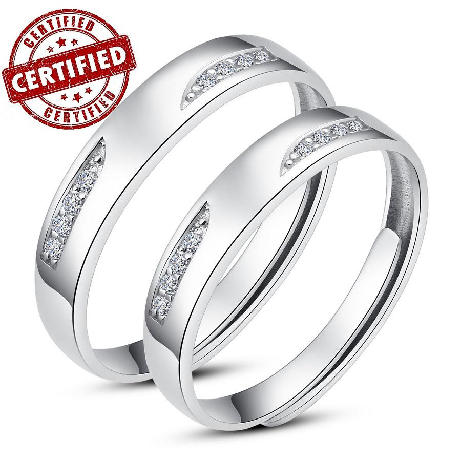 2017 Certified 100% Solid Sterling Silver 925 Couples Promise ...
