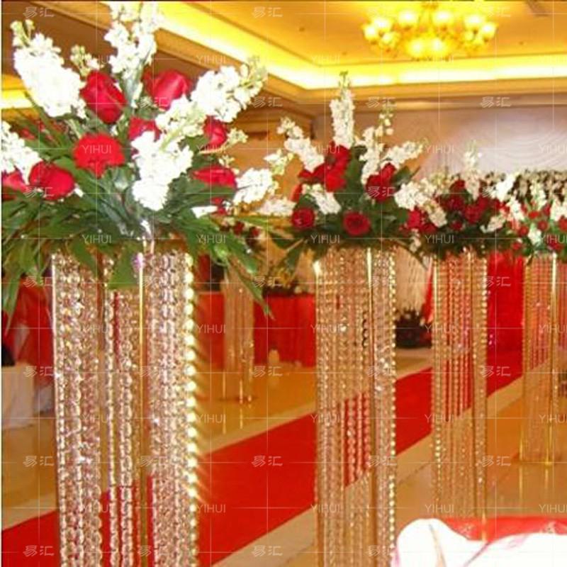Crystal Pillar For Wedding Walkwaywedding Decoration Crystal Pillar