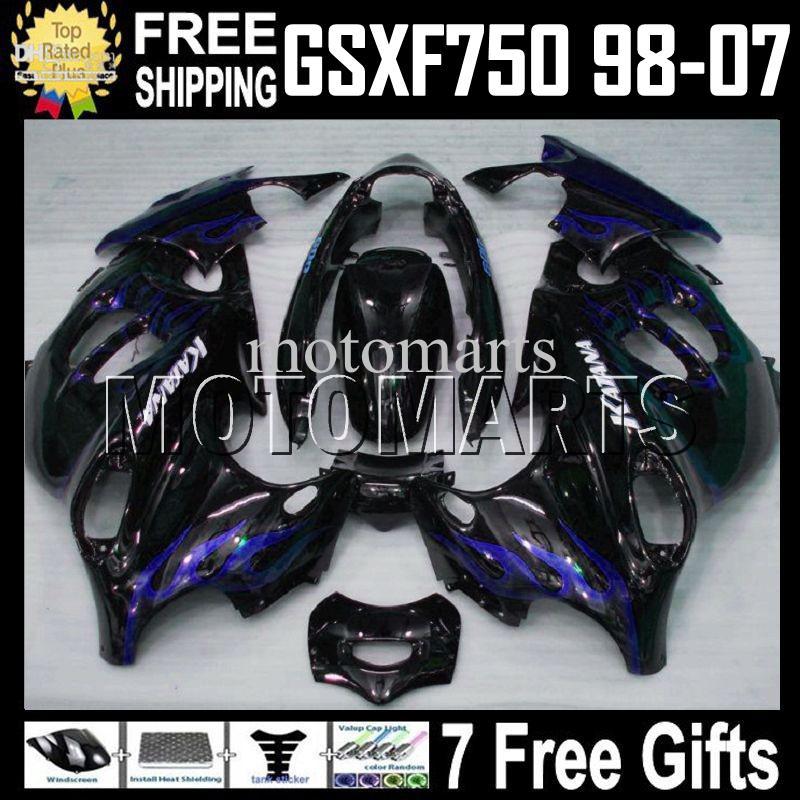Blue Flames 7Gifts voor Suzuki Katana GSXF750 GSX750F GSX 750F GSXF 750 1998 1999 2000 2001 2002 2003 2004 2005 2006 2007 MT1322 Kuiken