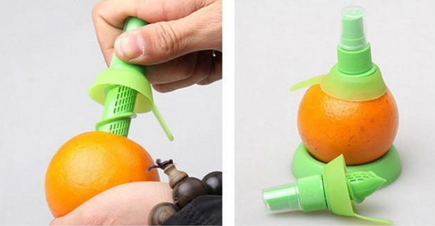 크리 에이 티브 핸드 과일 스프레이 도구 주스 Juicer 레몬 오렌지 수박 분무기 압착기 주방 도구