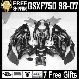 2019 1999 katana 7gifts все черные для SUZUKI KATANA GSXF750 GSX750F глянец GSX 750 F GSXF 750 MT328 1998 1999 2000 2001 2002 2003 2004 2005 2006 2007 обтекатель скидка 1999 katana