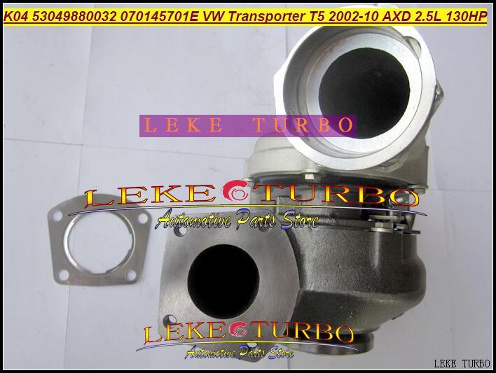 K04 VTG 53049700032フォルクスワーゲンT5トランスポーターAXD 2.5L TDI 130HPターボチャージャー用ターボ53049880032