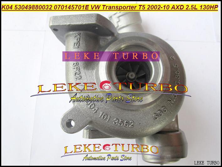 K04 VTG 53049700032 53049880032 Turbo Para Volkswagen T5 Transporter AXD 2.5L TDI 130HP turbocompressor