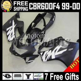 Wholesale 99 Honda Cbr F4 - Fairing for HONDA CBR600f4 99-00 f4 FS 7gift Flat black CBR600 F4 MT127 CBR600F4 CBR F4 600F4 99 00 1999 2000 1999-2000 Matte black