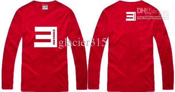 fashion Tee new arrival Tee Shirt 100% cotton mens eminem E logo long sleeve tee shirt Top