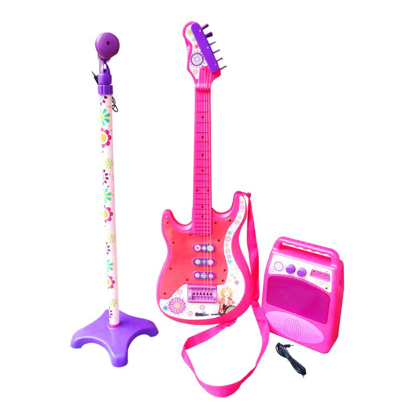 xdq artificial guitar set speaker electric female child early learning toy gift online with 66. Black Bedroom Furniture Sets. Home Design Ideas