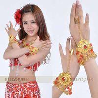 Wholesale Indian Belly Dance Jewelry - Belly dance bracelet accessories large gem bracelet ring indian dance accessories jewelry bracelet #C1023